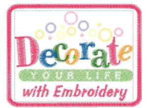 Decorate you life badge