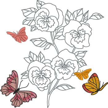 Butterfly Fall Embroidery