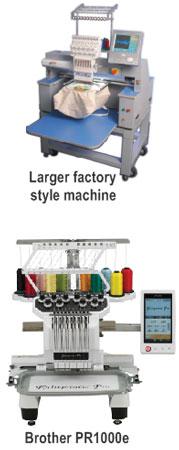 PR1000 and factory-style multi-needle machine