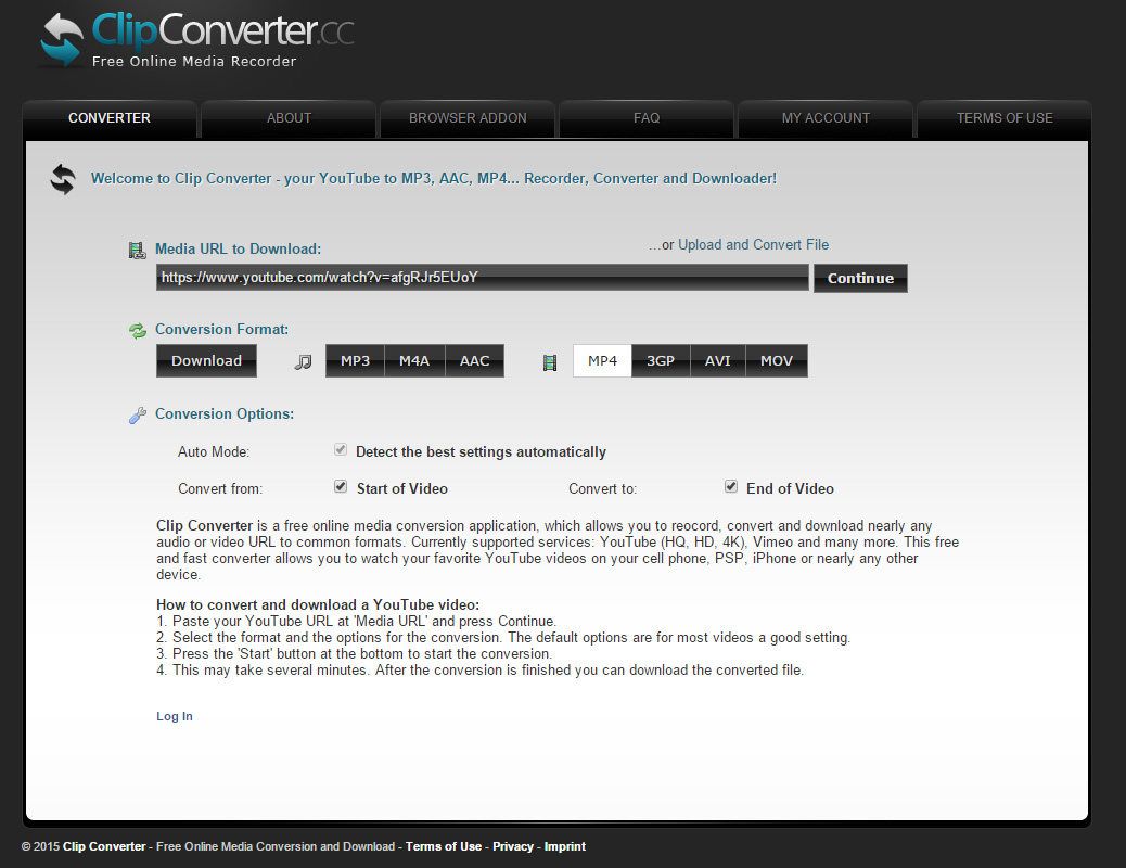 Clip Converter MP4