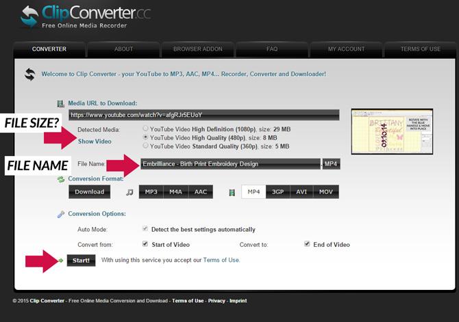 Clip Converter File Size